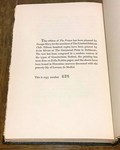 New York: Limited Editions Club, 1954. Hardcover. Bookplate on front free endpaper. About Fine in a ...