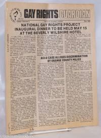 image of Gay Rights Guardian: vol. 5, #5, May 1980; National Gay Rights Project Inaugural Dinner