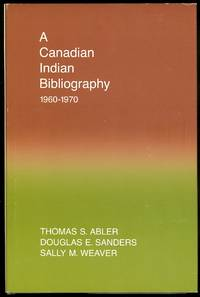 image of A CANADIAN INDIAN BIBLIOGRAPHY 1960-1970.