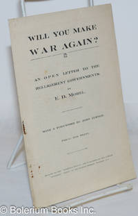 image of Will You Make War Again? An open letter to the belligerent governments