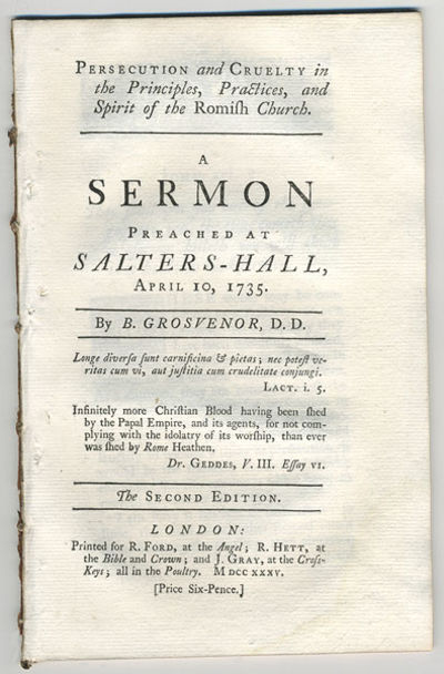 London: Printed for R. Ford; at the Angel; R. Hett, at the Bible and Crown; and J. Gray, at the Cros...