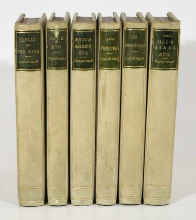 London: Strahan and Co, 1870. Full vellum bindings with green morocco title labels to spine. Gilt de...