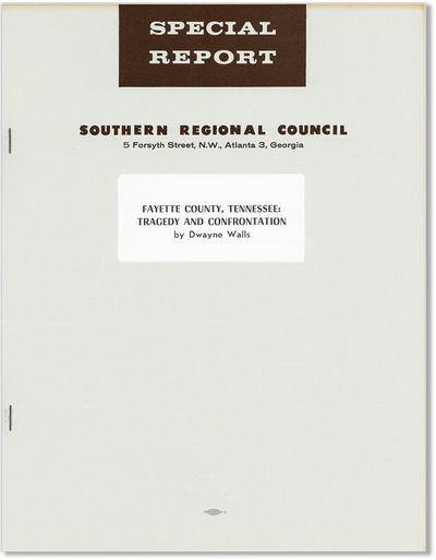 Atlanta: Southern Regional Council, 1969. First Edition. Quarto (11