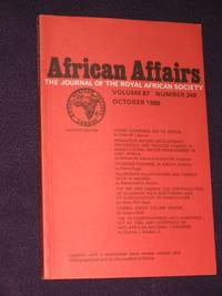 African Affairs: Journal of the Royal African Society. Volume 87, No. 349. October, 1988