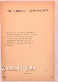 London: Library Association, 1958. stiff paper wrappers. Libraries. small 8vo. stiff paper wrappers....