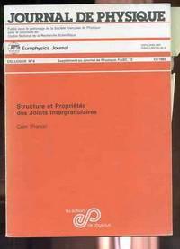 JOURNAL DE PHYSIQUE No 6, C6-1982 Structure Et Properties Des Joints  Intergranulaires