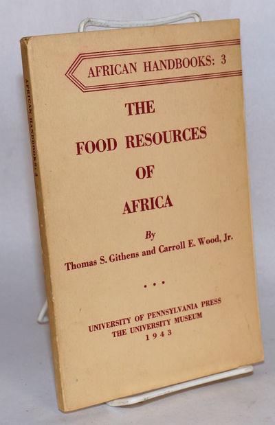 Philadelphia: University of Pennsylvania Press, 1948. 105p., frontis-map, preface, appendix, survey,...