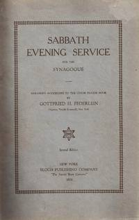 SABBATH EVENING SERVICE FOR THE SYNAGOGUE