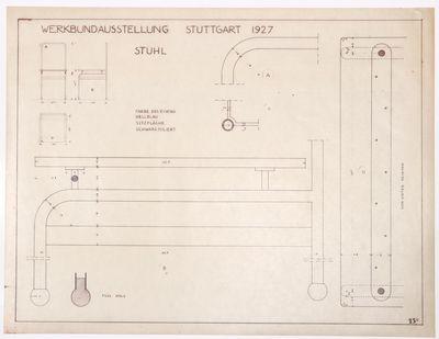 Furniture for the Werkbundausstellung...