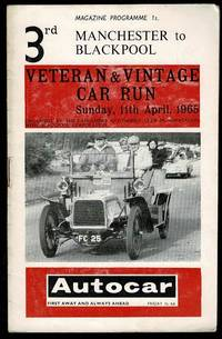 image of The Third Manchester to Blackpool Veteran & Vintage Car Run Programme 1965