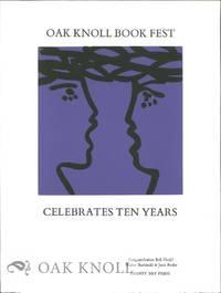 OAK KNOLL BOOK FEST CELEBRATES TEN YEARS