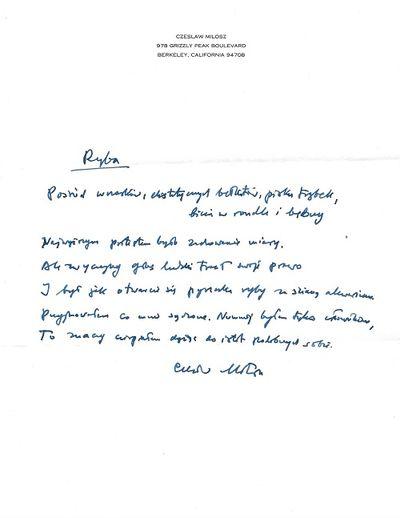Berkeley, 1997. Original manuscript (ALS) of single poem, along with a typed letter on white letterh...