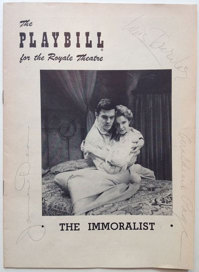 New York, 1954. paperback. near fine. Exceedingly rare and possibly unique signed Playbill for James...