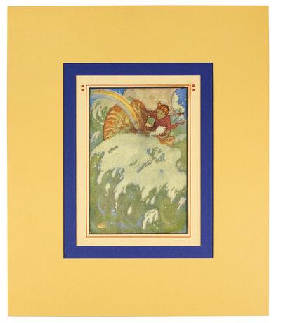 Single offset color print. London: Hodder and Stoughton, 1913. Single offset color print, 4 x 6 inch...