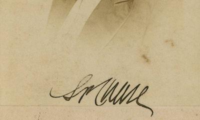 1861. Salmon Chase A beautiful and boldly signed image of Treasury Secretary Salmon P. Chase, signed...