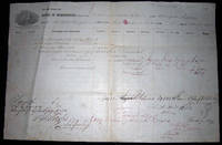 1862 Port of Philadelphia Manuscript & Printed Bill of Lading Entry of Merchandise Customs Duties for Barque Irma from Trinidad De Cuba