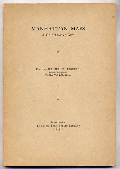 New York: New York Public Library, 1931. Softcover. Very Good. Reprinted from the Bulletin of the Ne...