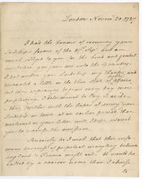[AUTOGRAPH LETTER, SIGNED, FROM THOMAS PAINE TO WILLIAM PETTY, FORMER EARL OF SHELBURNE AND PRESENTLY THE 1st MARQUESS OF LANSDOWNE, CONCERNING THE CURRENT PRECARIOUS POLITICAL SITUATION BETWEEN ENGLAND AND FRANCE]