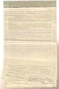 "1899 - 1906 Deeds for Simpson House and Block ""B"" from C. W. Brown,  Assignee of Chas. Blanchard City of Socorro New Mexico"