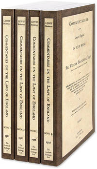 Commentaries on the Laws of England in Four Books, With Notes..