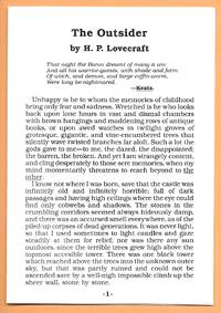 The Outsider by  H. P Lovecraft - 1st Edition  - 0 - from Dark Hollow Books ® (SKU: 004392)