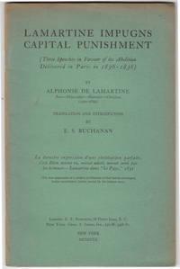 Lamartine Impugns Capital Punishment (SIGNED)