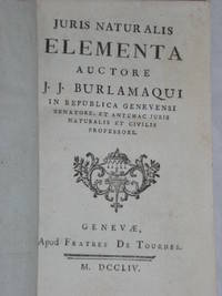 Juris Naturalis Elementa.