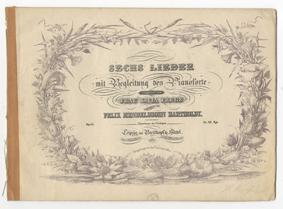 Leipzig: Breitkopf & Härtel , 1843. Oblong folio. Disbound. (lithographic title within decorative f...