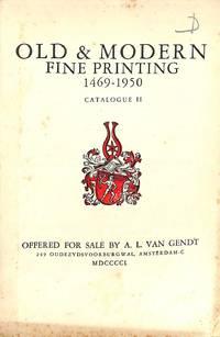 Catalogue II/1950: Old & Modern Fine Printing 1469-1950.