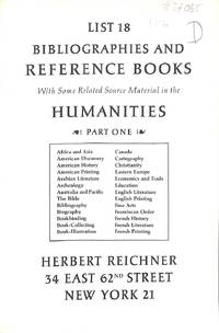 List. 18/n.d. : Bibliographies and reference books. With some related  material in the Humanities - Part one.