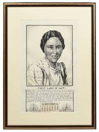 [Original Pen and Ink Drawing]: First Lady of Haiti [Madame Elie Lescot]