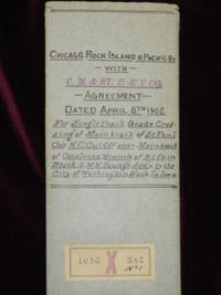 CHICAGO ROCK ISLAND AND PACIFIC RAILWAY WITH CHICAGO, MILWAUKEE AND ST. PAUL RAILWAY CO. AGREEMENT DATED APRIL 8TH 1902