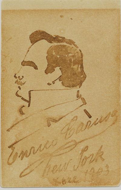 ViaLibri Original Self Caricature Signed On His Carte De Visite