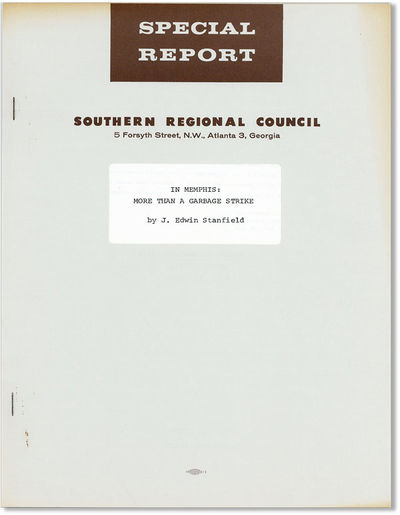 Atlanta: Southern Regional Council, 1968. First Edition. Quarto (28cm.); publisher's grey stapleboun...