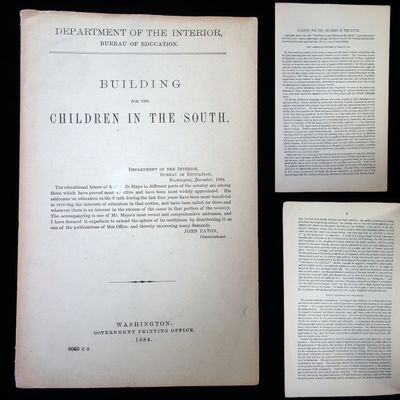Washington D.C.: Bureau of Education, 1884. 16 pages, paper wrappings. Mayo's main topic in this boo...