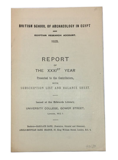London: Issued at the Edwards Library, University College, 1925. Paperback. Very Good. 12, (3)p. Sof...