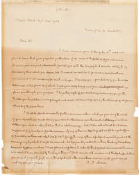 [AUTOGRAPH LETTER, SIGNED, FROM JOHN QUINCY ADAMS TO JOSEPH BLUNT, REFUSING A REQUEST TO WRITE A BIOGRAPHICAL SKETCH OF HIS FATHER, AND SOLICITING INFORMATION ABOUT ELECTIONEERING IN ALBANY]