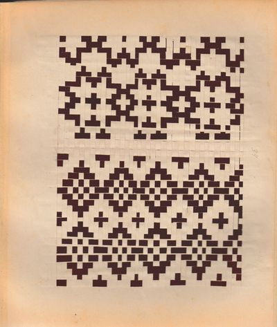 : ca. 1900. Leporello comprising forty-seven leaves of plaited paper patterns, with between one and ...