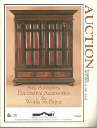 ANTIQUES, ART, DECORATIVE ACESSORIES AND WORKS ON PAPER Thursday September  24, 1992 by Alderfer Auction Company - Paperback - 1992 - from Gibson's Books and Biblio.co.uk