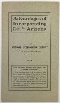 Advantages of Incorporating Under the Laws of Arizona [cover title]