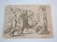 Abraham Welcoming the Three Angels. Original Etching After Raphael. Historia del Testamento...
