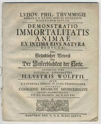 Demonstratio immortalitatis animae ex intima eivs natvra dedvcta; Oder: grundlicher beweitz bon der unsterblicheit der seele...