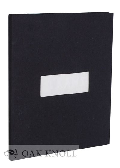 (Berlin): John Gerard, 1998. black linen covers with rectangular cut-out on front board allowing the...