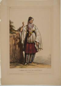 image of Femme de l'Ile de Santorin (Archipel grec Cotes d'asie).  Lithograph