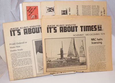San Francisco: Abalone Alliance, 1981. Newspaper. Five issues of the tabloid format newspaper, spann...