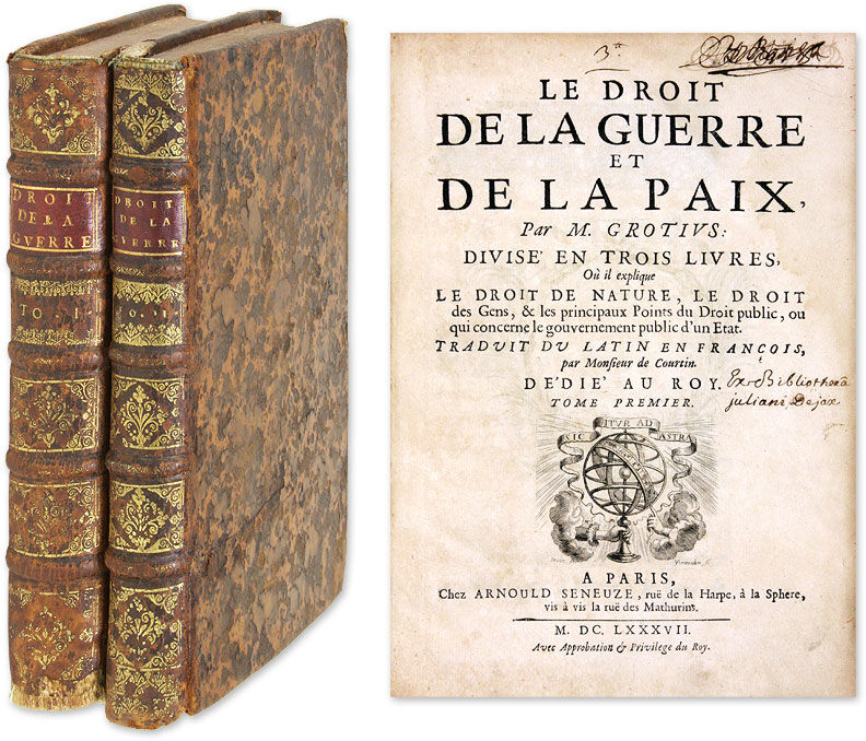 le droit de la guerre et de la paix divise en trois livres ou by hugo grotius hardcover. Black Bedroom Furniture Sets. Home Design Ideas