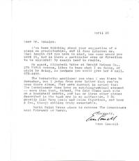 ARCHIVE OF A TYPED MANUSCRIPT SIGNED (TMS), 8 TYPED LETTERS SIGNED (TLSs), and other material