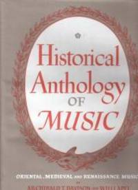 Historical Anthology of Music, Vol. 1: Oriental, Medieval, and Renaissance Music
