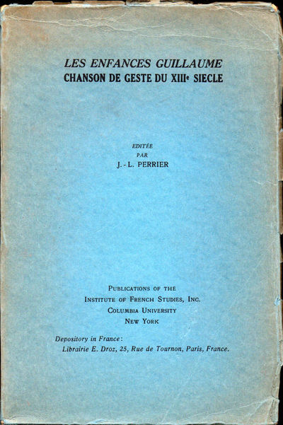 NY: Institute of French Studies Columbia University , 1933. Paperback. Very good. ix, 143pp+ index a...