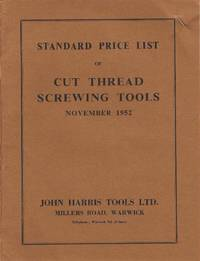 Standard Price List of Cut Thread Screwing Tools November 1952